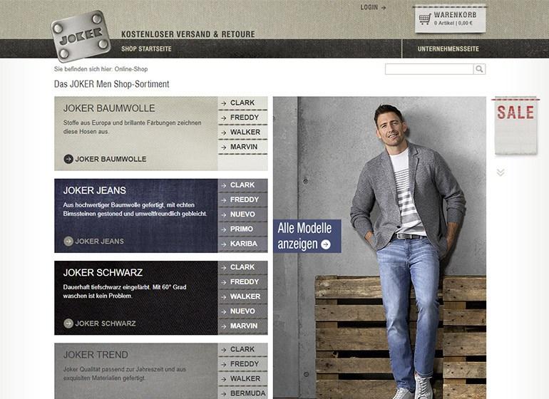 Der erste JOKER Online-Shop
