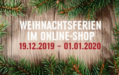 Weihnachtsferien im Onlineshop